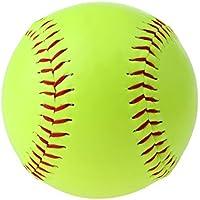 D DOLITY 1 Pc de Pelota Recreativa Amarilla de Sófbol Cubierta Duradera Ideal Equipamiento de Juegos y Ejercicios para Jovenes