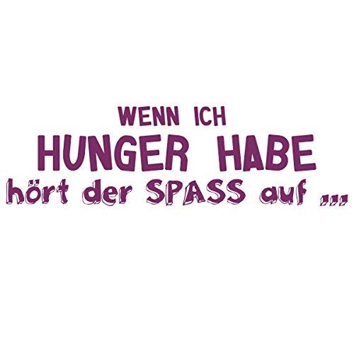 WANDKINGS Wandtattoo – Wenn ich Hunger habe hört der SPASS auf … – Wähle aus 5 Größen & 35 Farben