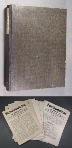 Familienzeitung des Geschlechtes Irle. 28 Hefte. Herausgegeben von Dr. Lothar Irle. Band 1 (1929-1932): 1929 (Hefte 1 und 2); 1930 (Hefte 3, 4 und 5); 1931 (Hefte 6, 7 und 8); 1932 (Hefte 9, 10 und 11). Band 2 (1933-1937): 1933 (Hefte 12, 1 und 2); 1934 (Hefte 3, 4 und 5); 1935 (Hefte 6, 7 und 8); 1936 (Hefte 9, 10 und 11). 1937 (Heft 12). Band 3 (1937-1938): 1937 (Heft 1); 1938 (Hefte 3 und 4/5). Aus den Jahren 1930-1938 mehrere Hefte doppelt, teils dreifach enthalten (29 Hefte): 1930 (Heft ...