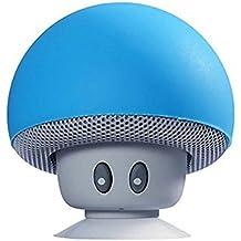Altoparlante portatile senza fili dell'altoparlante e supporto del telefono delle cellule di Hipipooo Mini Bluetooth con la tazza di aspirazione compatibile con iPad, iPhone, telefoni Android, computer portatile(Blu)