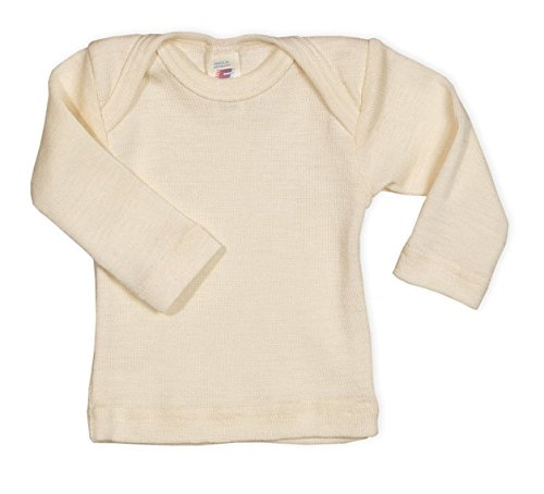 Baby Unterhemd langarm, 100% Wolle, Engel Natur, Gr. 86/92