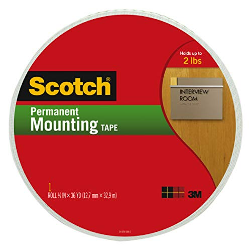 3M Scotch R doppelseitig Schaumstoff Montage-Klebeband, Mehrfarbig, 25,4x 19,3x 2,03cm