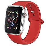 jwacct Armband Kompatibel with Apple Watch 38mm 40mm, weiches Silikon Uhren Armband Kompatibel with iWatch Series 5/4/3/2/1 S