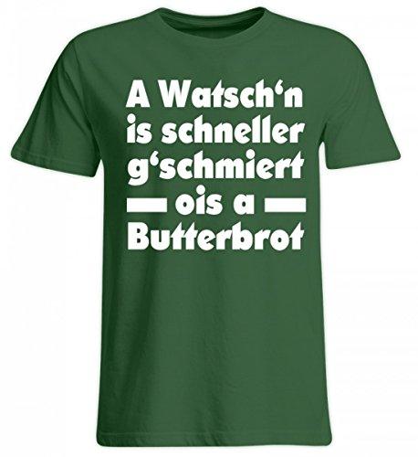 A WATSCH`N is SCHNELLER. - Bayerisch · Boarisch · bayrisch · Shirt · lustig · Spruch · Pulli · Jacke · Hoodie · T-Shirt · Geschenk - Übergrößenshirt -5XL-Dunkelgrün - Bier Humor Grünes T-shirt