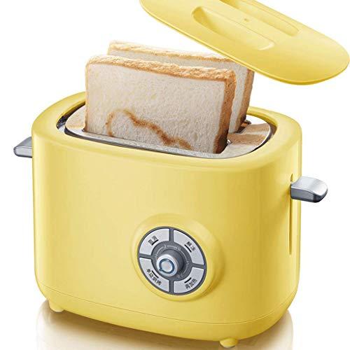 2-Slot Toasters 6 Bräunungsstufen und Auftaufwärmfunktionen Gelb