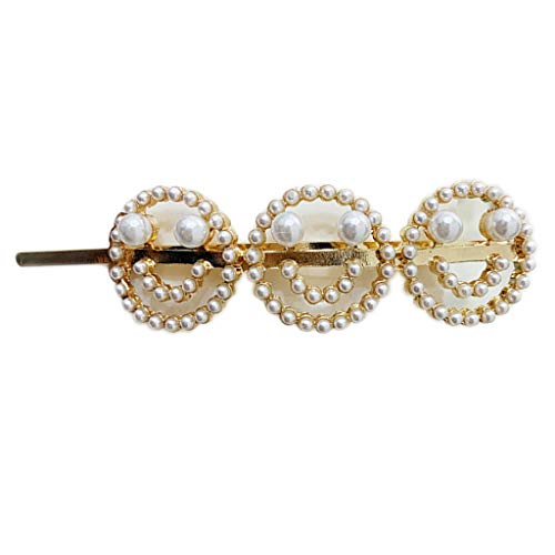 Haptian Glänzende Nachahmung Diamant Hair Pin Brief Smiley Haarspangen Korean Style Ins Hairgrip Haarschmuck(5-8cm/1.97-3.15