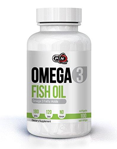 Molekular Destilliert, Fischöl (Pure Nutrition OMEGA 3 Kapseln Fischöl Hochdosiert 180 EPA 120 DHA 1000mg Ohne Zusätze|Essentielle Fettsäuren Molekular Destilliert für Höchste Reinheit und Frische|Vegan Bio Fish Oil)