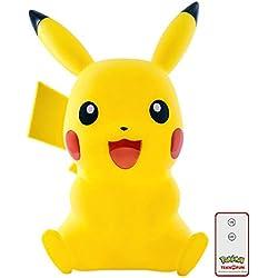 TEKNOFUN Pokemon Lámpara LED 3D Pikachu, 40cm, Mando a Distancia