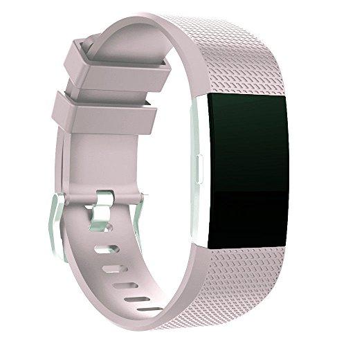 Omicton Fitbit Laden 2Strap Bands, Ersatz Weich TPU Sport Armbanduhr Band Wasserfest Armband Riemen Haken und Klettverschluss Verstellbarer Verschluss Armbänder für Fitbit Laden 2Smart Watch (Klettverschluss-riemen Sichere)