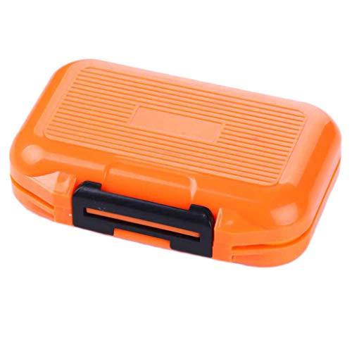 Toygogo Kunststoff Köderbox Zubehörbox Angeln Gerätebox Fischköder Spinnköder Aufbewahrungsbox - Orangen