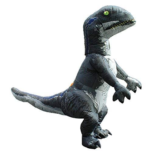 Decdeal Dinosaurier Aufblasbares Kostüm mit Lüfter Gebläse für Weihnachten Halloween Party Fasching Cosplay (Erwachsene)