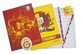 Galatasaray Istanbul Schulset - Kinder - 2 x Schreibheft - Radiergummi - Anspitzer - 2X Bleistift GSS1