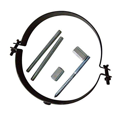 KaminoFlam abrazadera de tubo-rohrhalterung 120mm-Horno Tubo Soporte Negro-Humo Tubo Soporte para la pared, ajustable