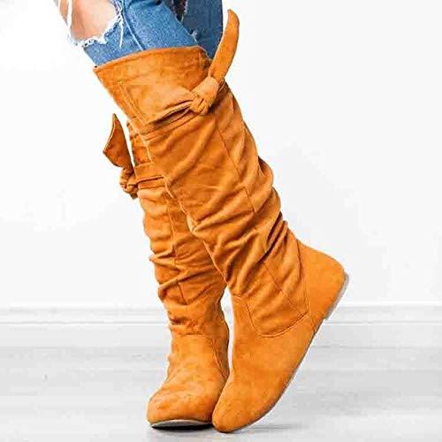 PIAOLDXZ Stivali Stivali da Donna sopra Il Ginocchio Stivali da Neve da Donna Stivali Alti da Donna Invernali Stivali da Do