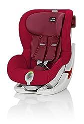 Britax Römer Kindersitz 9-18 kg, Autositz Gruppe 1, KING II LS, Flame Red