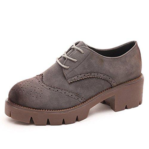 Retro spazzola fuori piattaforma piattaforma scarpe d'Inghilterra/