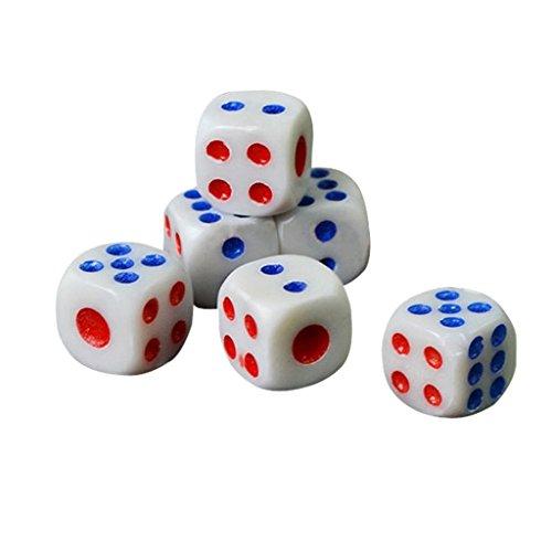 takestop® Set 5Stück Muttern Mutter aus Kunststoff 6FACES-Spiel Tisch Gesellschaft 'Poker Dungeons Dragons (Dragon Mutter)