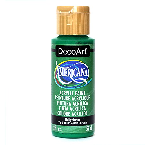 DecoArt Americana Mehrzweck-Acrylfarbe, 59 ml, Holly Grün Holly Keramik