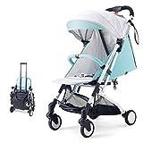 QZX Kinderwagen Folding Kinderwagen Baby Jogger Kinderwagen für Kinder von 0 bis 36 Monaten in verschiedenen Farben,Green