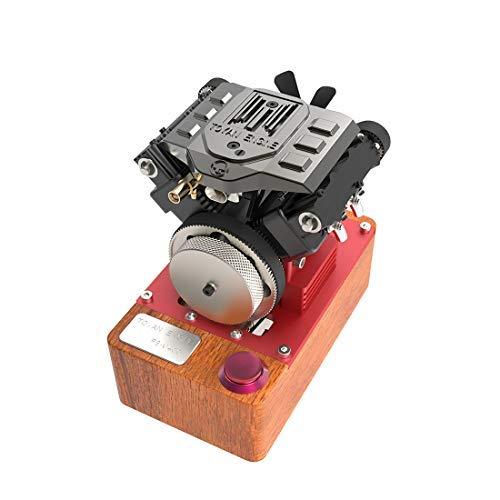 AMITAS Viertaktmotor Bausatz mit Sockel, Toyan FS-V400A V4 Methanol Motor Modell Set für 1:10 1:12 1:14 RC Auto Boot Flugzeug- Ab 14 Jahren