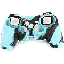 Amison protectora de silicona Fundas y protectores para Sony PS2 PS3 Controller (azul)