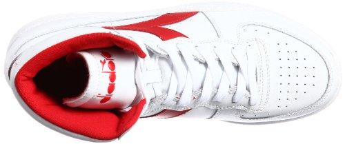 Diadora Mi Basket, Scarpe a Collo Alto Unisex – Adulto Bianco (Bianco/Rosso Ferrari Italia)