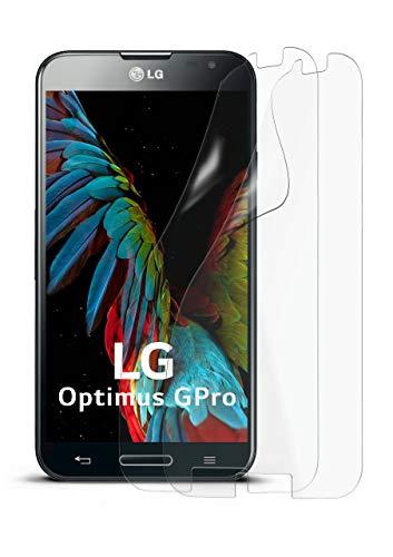 2X LG E986 Optimus G Pro | Schutzfolie Matt Display Schutz [Anti-Reflex] Screen Protector Fingerprint Handy-Folie Matte Displayschutz-Folie für LG Optimus G Pro Displayfolie (Pro Optimus Protector Screen Lg)