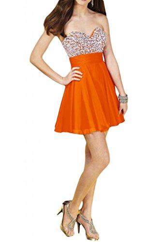 Abendkleid kurz orange