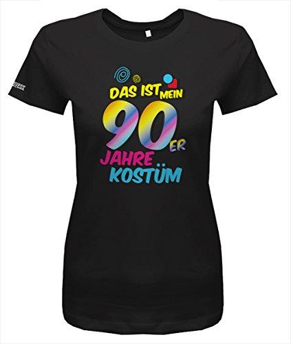 90er Jahre Kostüm - Damen T-Shirt in Schwarz by Gr. XS (Schwarzen 90er Jahre Kostüme)