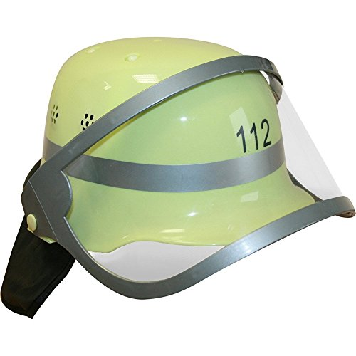 erwehr Helm mit Visier für Kinder Kostüm Feuerwehrmann Jungen Sam ()