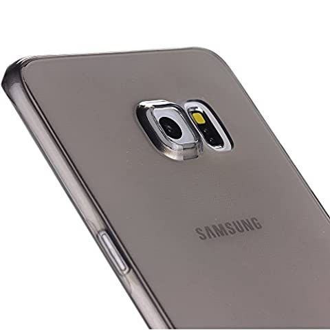 Liamoo dünne rundum TPU Schutzhülle für Samsung Galaxy S6 edge plus grau/transparent