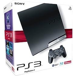 Console PS3 Slim 120 Go noire + Manette PS3 Dual Shock 3 - noire