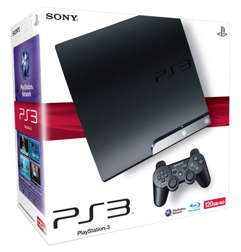 PlayStation 3 - Konsole slim inkl. 120 GB Festplatte - Ram 60 Gb Dvd
