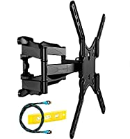 Invision Double Arm TV Wall Bracket Mount - For 24�?� �?? 55�?� LED LCD Plasma & Curved Screens - Tilt Swivel - Includes 1080p HDMI Cable *Please Check TV VESA Mounting Holes Before Purchase* (HDTV-DL)