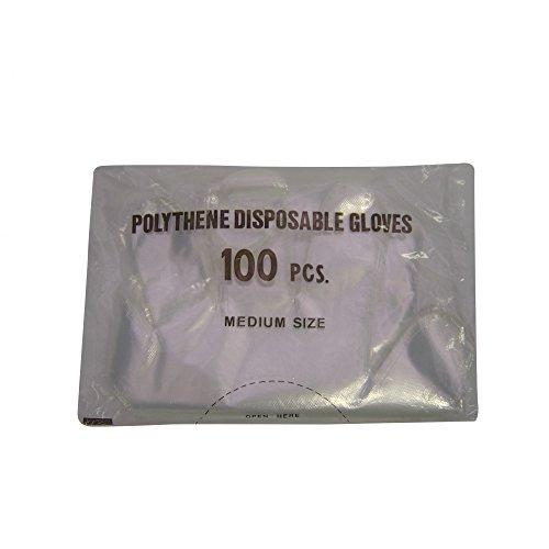 Fearing Polygloves lange Einweghandschuhe, 100 Stück (100er-Packung) (Mehrfarbig)