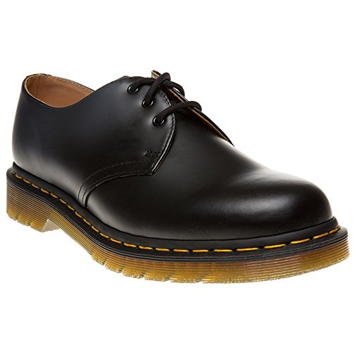 Dr. Martens 1461, Unisex-Erwachsene Derbys, Schwarz (Black Smooth/Orange), 45 EU