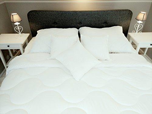 Einzelbett doppelbett weiss 135X200 cm bettwäsche, sehr funktionsbett und luxus, günstig für damen. Klasse Ideal für allergiker natur. (Luxus-bettwäsche)