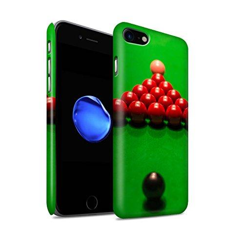 STUFF4 Matte Snap-On Hülle / Case für Apple iPhone 8 / Schwarze Kugel/Kreide Muster / Snooker Kollektion Schwarze Kugel/Rack/Rosa