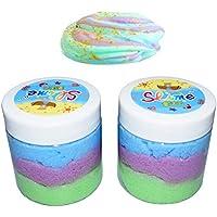 BESTZY Fluffy Cloud Slime - 2018 Masilla de Hadas Nueva, 2 Paquetes (120 ML Cada uno) 3 Colores Arcilla de Alivio de estrés para niños y Adultos