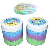 BESTZY Schleim Fluffy Cloud Slime - 2018 Neueste Feenkitt, 2 Pack (120ml jeder) 3 Farben Baumwolle Schleim, Stress Relief Spielzeug für Kinder und Erwachsene