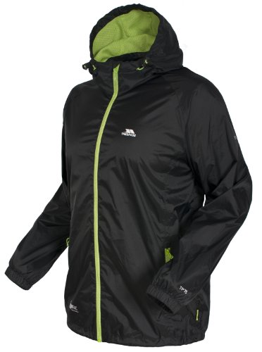 Trespass Unisex-Adult Qikpac Collapsible Foldable Hooded Jacket. This is slightly friendlier to your pocket and it offers good quality like our best pick. The machine-washable jacket is made of 100% polyamide that has a Pu coating making it easy to clean. With this jacket you also get to pick from the assorted colours provided and; if you want to layer up clothes underneath the waterproof jacket offers adequate room.