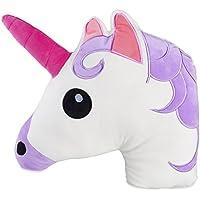 Almohada de emoticono de cabeza de unicornio cojín suave 31x 31cm, regalo perfecto