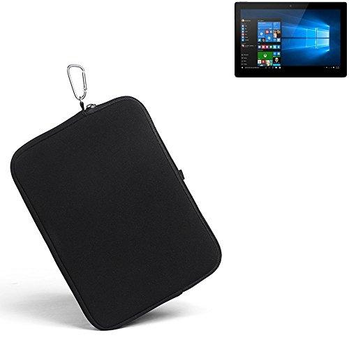 K-S-Trade® für Allview Wi10N Pro Neopren Hülle Schutzhülle Neoprenhülle Tablethülle Tabletcase Tablet Schutz Gürtel Tasche Case Sleeve Business schwarz für Allview Wi10N Pro