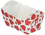 Haus Mini Herz Papier Backen, weiß, 10-tlg.