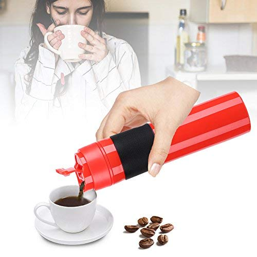 41Fm0ZhaxlL. SS500  - 350ml Portable Mini Espresso Maker Hand Held Pressure Caffe Espresso Machine Compact Manual Coffee Maker for Home Office…