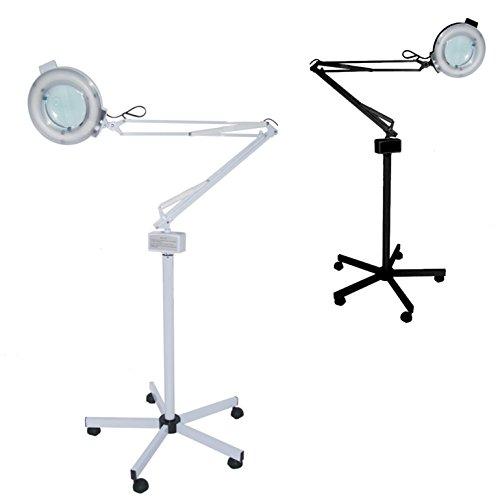 POLIRONESHOP Lampe mit Linse 5 Dioptrien verstellbares mobiles Stativ für Kosmetik Massage und...