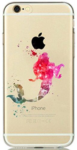 Phone Kandy® Telefon-Kasten für iPhone 6 6s Plus (5.5 inch) - Aquarell-Kunst-transparente freie ultra dünne Abdeckung Wahl der harten Shell oder weicher TPU Hülle Abdeckung Haut tascen (Ariel Pink, Hartplastikschale) (Iphone 6 Minnie-telefon-kasten)