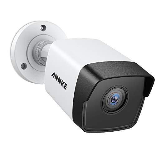 ANNKE 5MP POE Überwachungskamera, H.265+ HD Wasserfest IP Kamera für Haus Sicherheit Innen Außen Videoüberwachung mit Nachtsicht bis zu 30 Meter, Handy und PC Fernzugriff mit 30m EXIR Nachtsicht