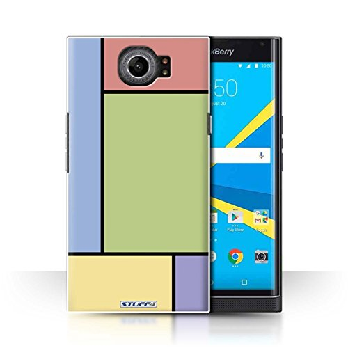 Preisvergleich Produktbild Stuff4® Hülle / Case für BlackBerry Priv / 5 Fliesen / Grün Muster / Pastell Fliesen Kollektion