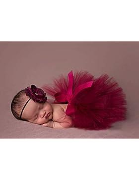 [Patrocinado]Butterme Bebé Recién Nacido Traje De Fiesta Para Bebés Lindo Malla De Hilo Princesa Falda Flor Diadema Conjunto...